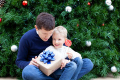 Family at christmas Royalty Free Stock Images