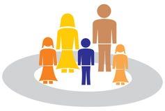 Family with circle Stock Photos