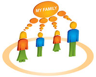 Family with circle Stock Image