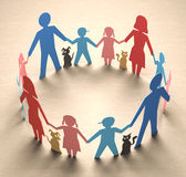 Family Circle. Happy family forming a circle of unity Stock Photos