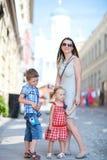 Family in city Royalty Free Stock Photos