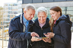 Family on city trip Royalty Free Stock Images