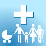 Family clinic. Patient health care Royalty Free Stock Image
