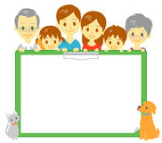 Family clipboard copy space Royalty Free Stock Images