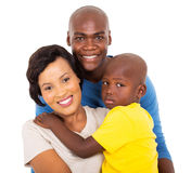 Family close up. Close up portrait of beautiful afro american family royalty free stock photography