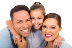 Family close up portrait Royalty Free Stock Images