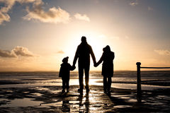 Family at the coast Royalty Free Stock Photography