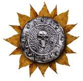 Family coat, shield emblem. Isolated on white Royalty Free Stock Image