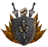 Family coat, shield emblem Royalty Free Stock Image