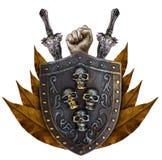 Family coat, shield emblem royalty free stock image
