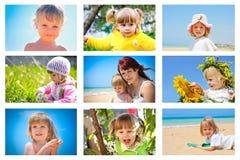 Family collage Stock Photos