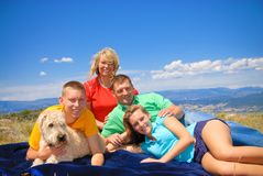 Family in Colorado Rockies Royalty Free Stock Photography