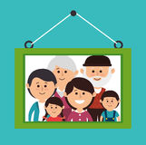 Family colorful cartoon Stock Image