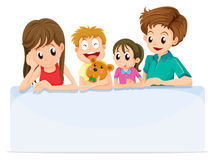 A family comforting a member of their family. Illustration of a family comforting a member of their family on a white background vector illustration