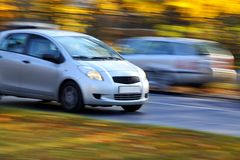 Family compact  car Royalty Free Stock Photography