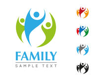 Family Company商标模板 图库摄影