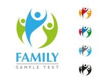 Family Company Logo Template. Company Logo Template with joyful family Stock Photography