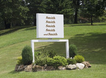 Family company sign Stock Photos