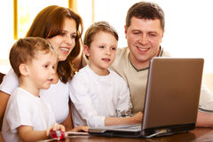 Family computer Royalty Free Stock Photography