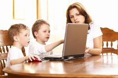 Family computer Royalty Free Stock Images