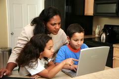 Family on Computer Royalty Free Stock Image