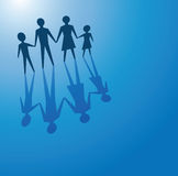 Family concept. To illustrate a family concept, father, mother and children Stock Photography