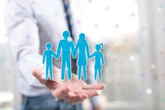 Concept of family stock image