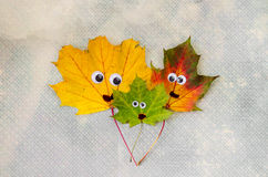 Family concept with autumn leaves Royalty Free Stock Photography