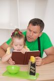 Family concept, cute little girl with father Royalty Free Stock Photography