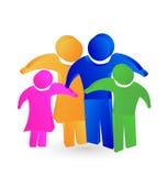 Family concept  3d logo design vector Royalty Free Stock Image