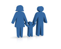 Family concept icon 3d rendering Royalty Free Stock Photography