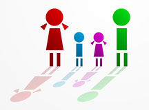 Family concept. Parents and children Royalty Free Stock Photos