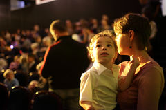 Family at a concert Royalty Free Stock Image