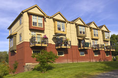 Family condominiums in Fairview Village Oregon. Stock Photography