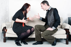 Family conflict. Between men and woman Stock Photo