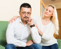 Family conflict at home Stock Photo