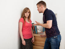 Family conflict, quarrel Stock Photo