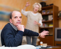 Family conflict in senior couple Stock Photo