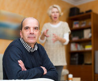 Family conflict in senior couple Royalty Free Stock Photography