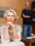 Family conflict in senior couple Royalty Free Stock Image