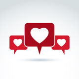 Family consultation symbol, discussion forum and conversation on Royalty Free Stock Photos