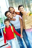 Family of consumers Stock Photography