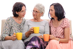 Family conversation at home Royalty Free Stock Photography
