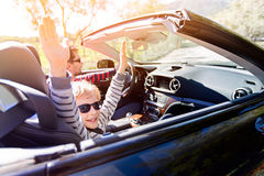 Family in convertible car Royalty Free Stock Photography