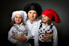 Family cook chef dinasty restaurant Royalty Free Stock Photo
