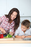 Family cooking Royalty Free Stock Photo