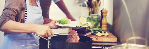 Family Cooking Kitchen Food Togetherness Concept.  royalty free stock photos