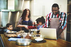Family Cooking Kitchen Food Togetherness Concept.  stock photography