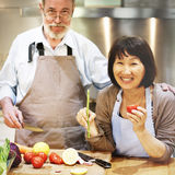 Family Cooking Kitchen Food Togetherness Concept. Family Cooking Kitchen Food Togetherness Happiness royalty free stock photo