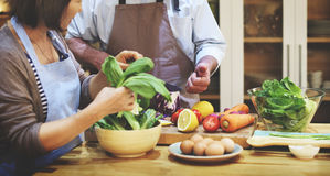 Family Cooking Kitchen Preparation Dinner Concept royalty free stock images